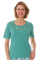 Betsy Palm Applique Top