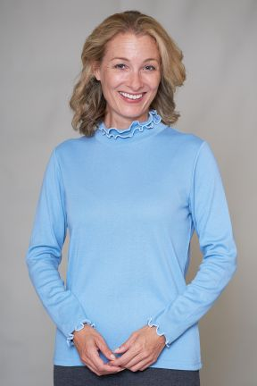 Betsy Ruffle Turtle Neck Top