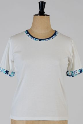 Poppy Hyacinth Ruched Top