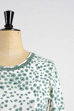 Poppy Leopard Print Ruched Neck Top