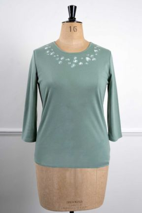 Poppy Leopard Print Embroidered Top