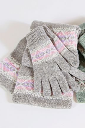 Fairisle Knit Glove