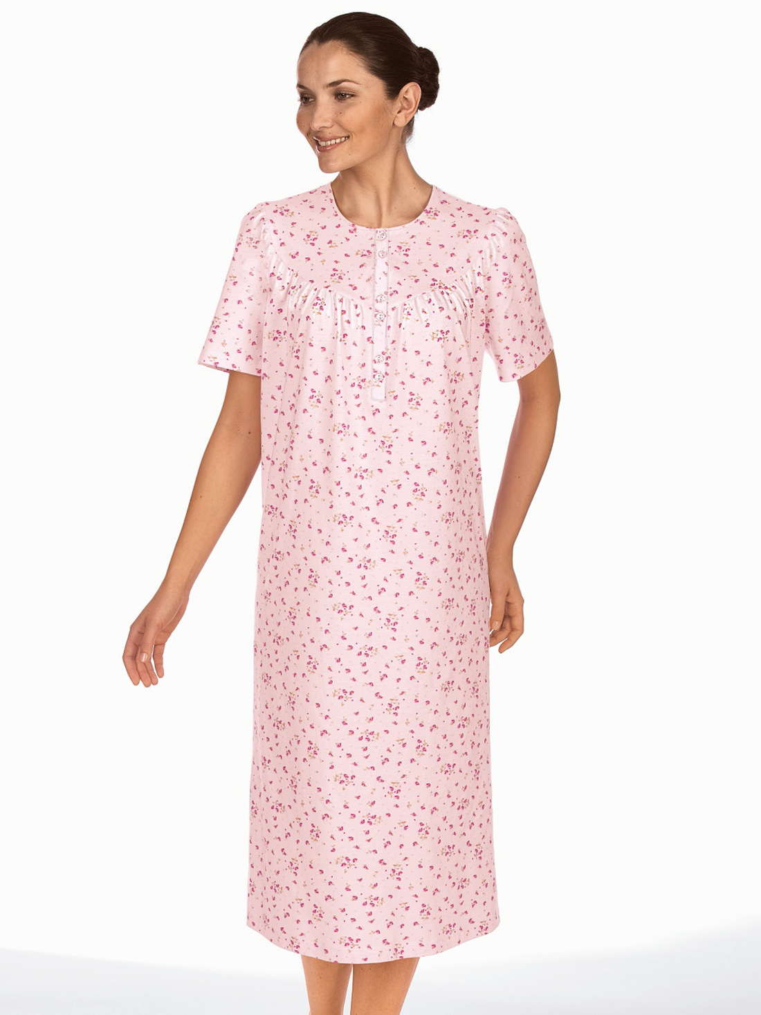 Women's Accessories Floral Jersey Nightdress
