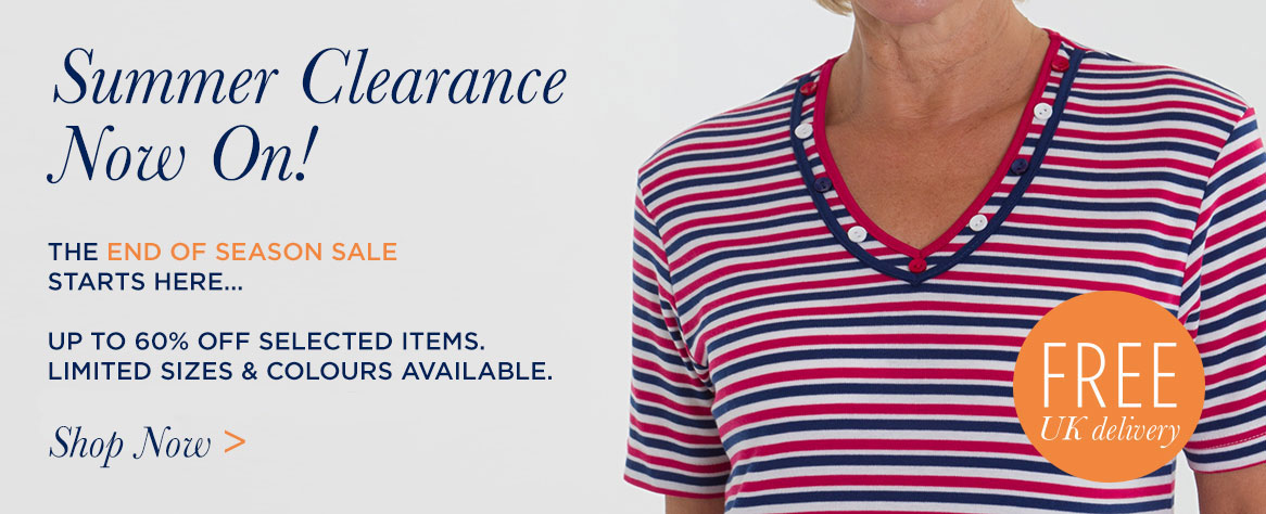 SUMMER CLEARANCE ON NOW